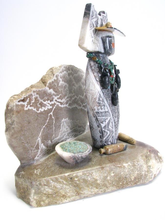 Native American Corn Maiden Stone Sculpture - 3