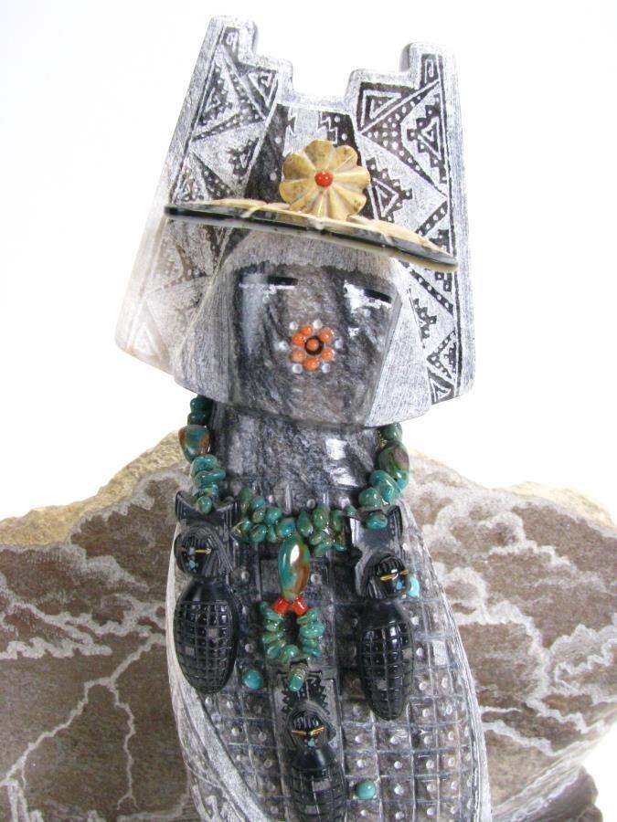 Native American Corn Maiden Stone Sculpture - 4