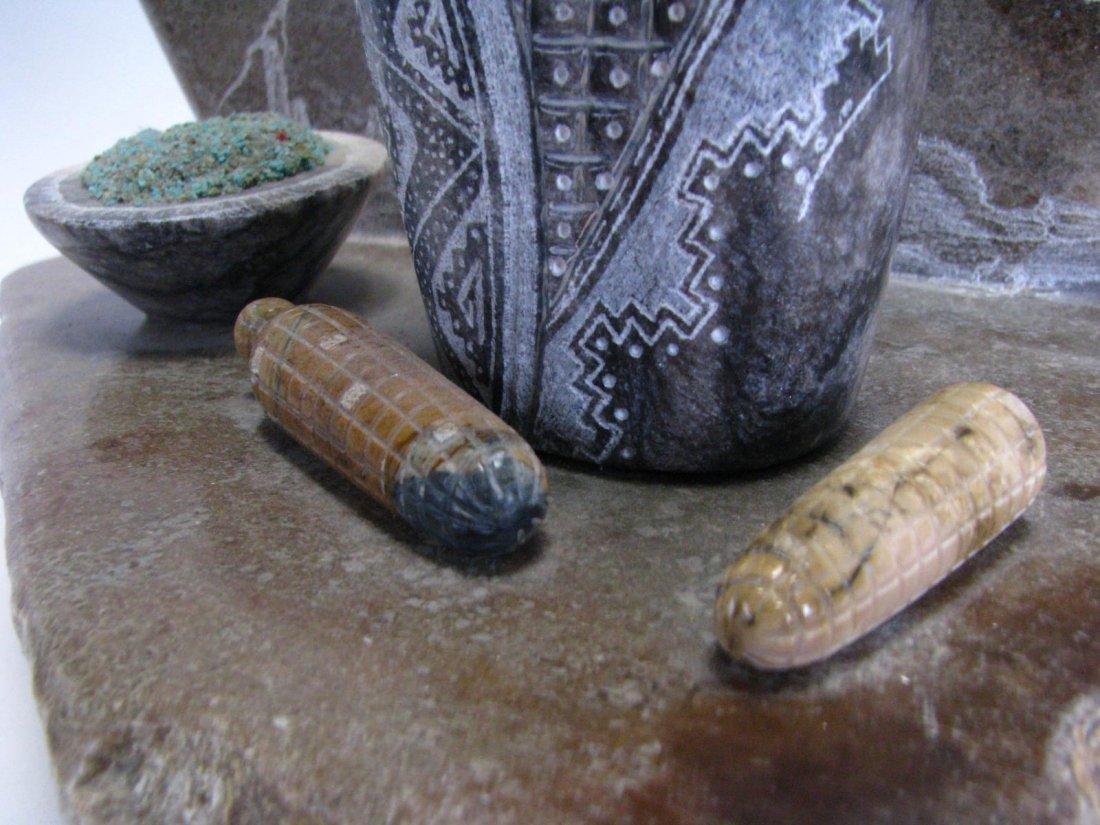 Native American Corn Maiden Stone Sculpture - 6