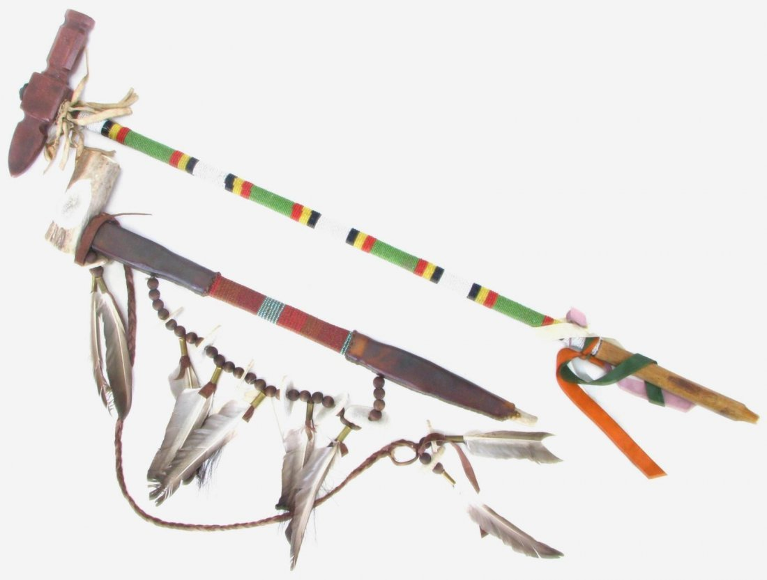 Two Native American Peace Pipes