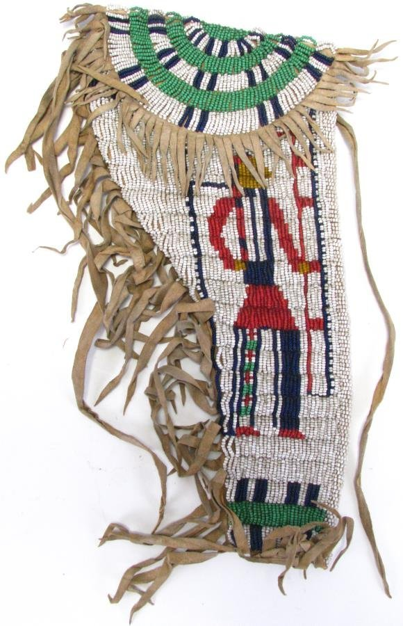 Sioux Indian Pictorial Beaded Gun Holster