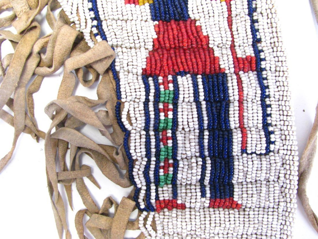 Sioux Indian Pictorial Beaded Gun Holster - 5