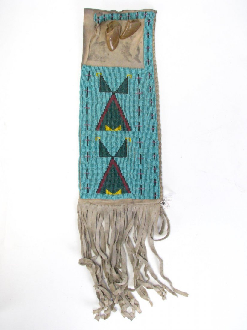 Two Sioux Indian Beaded Pipe Bags - 2