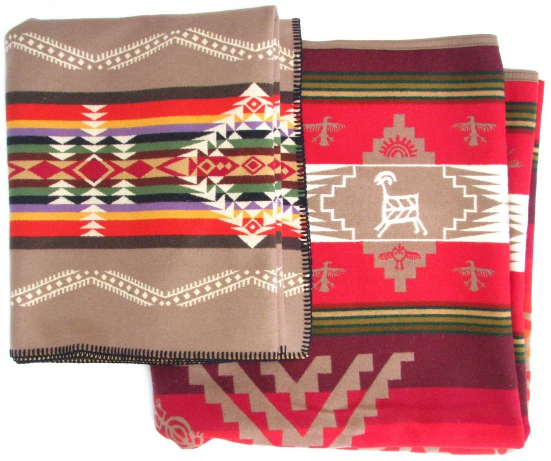 Native American Style Wool Blanket and Shawl