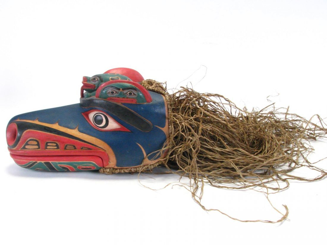 Two Pacific Northwest Raven Clacker Masks - 2