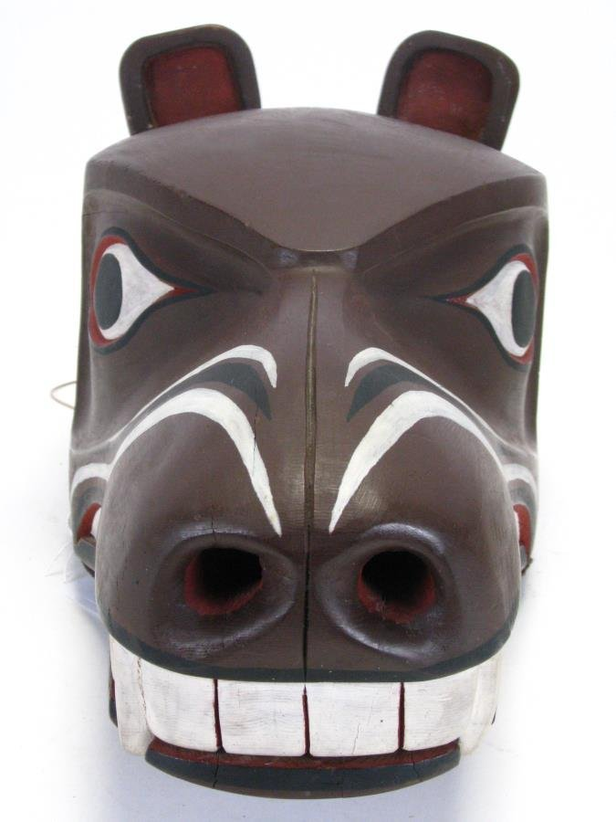 Two Pacific Northwest Raven Clacker Masks - 5