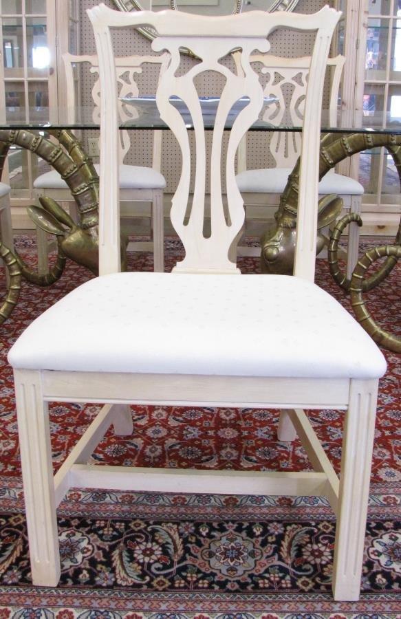 Leon Francois Chervet Ram's Head Dining Table, Chairs - 6
