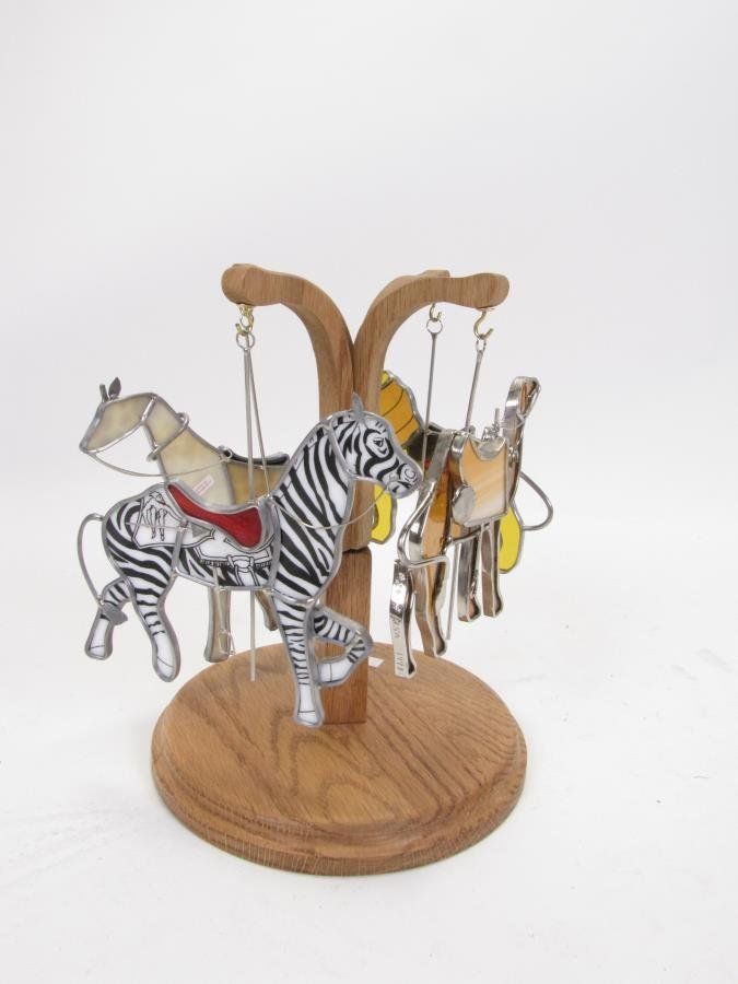 Vintage Wooden Carousel Horse - 2