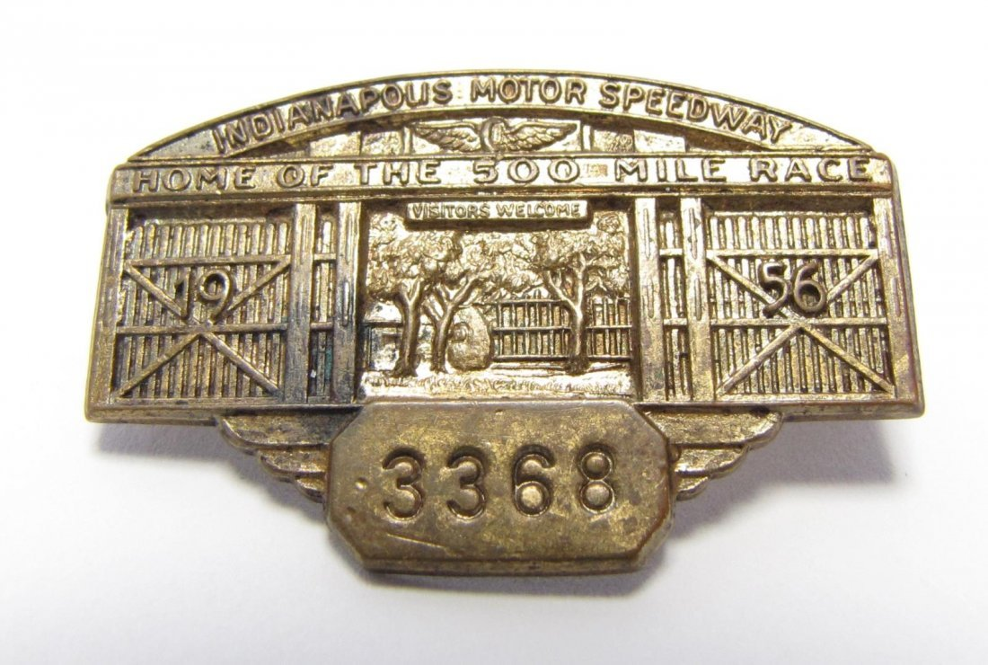 Five 1955 and 1956 Indianapolis 500 Pit Badges - 3