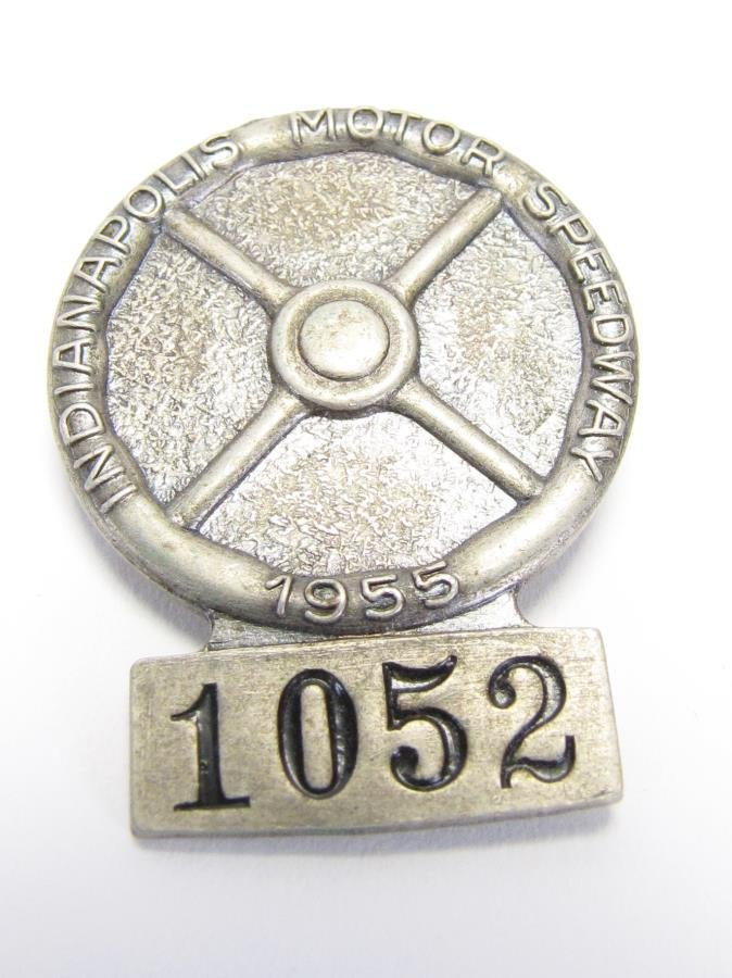 Five 1955 and 1956 Indianapolis 500 Pit Badges - 4