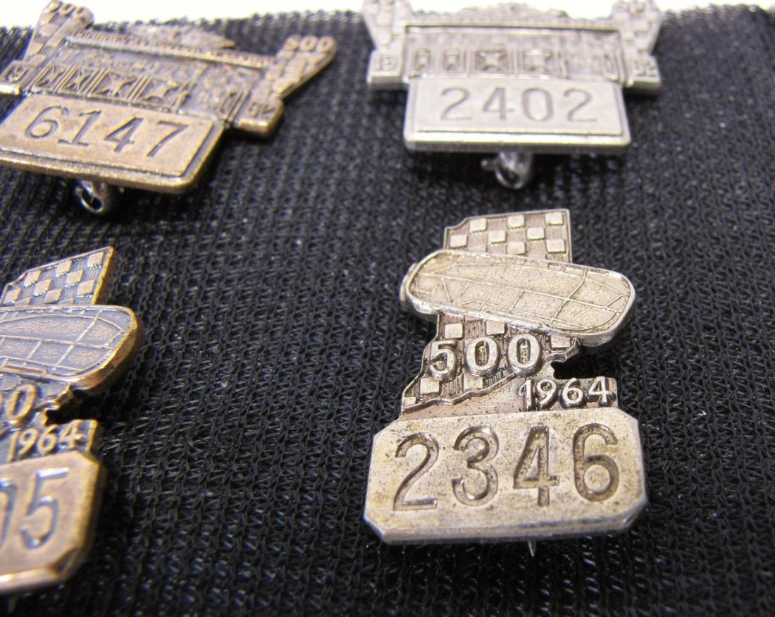 Eight 1961-1964 Indianapolis 500 Pit Badges - 2
