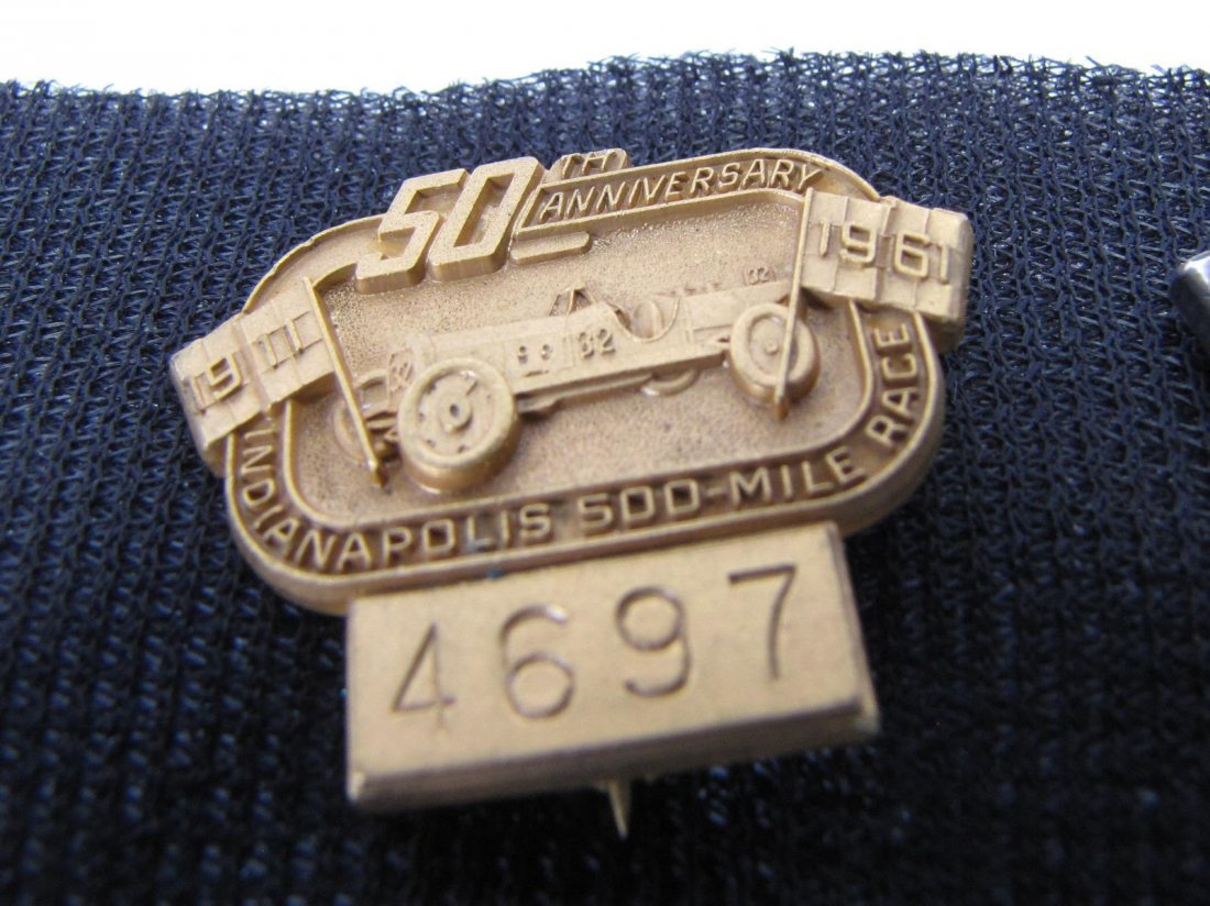 Eight 1961-1964 Indianapolis 500 Pit Badges - 4