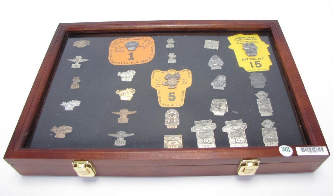 Collection of Vintage Indianapolis 500 Pit Badges
