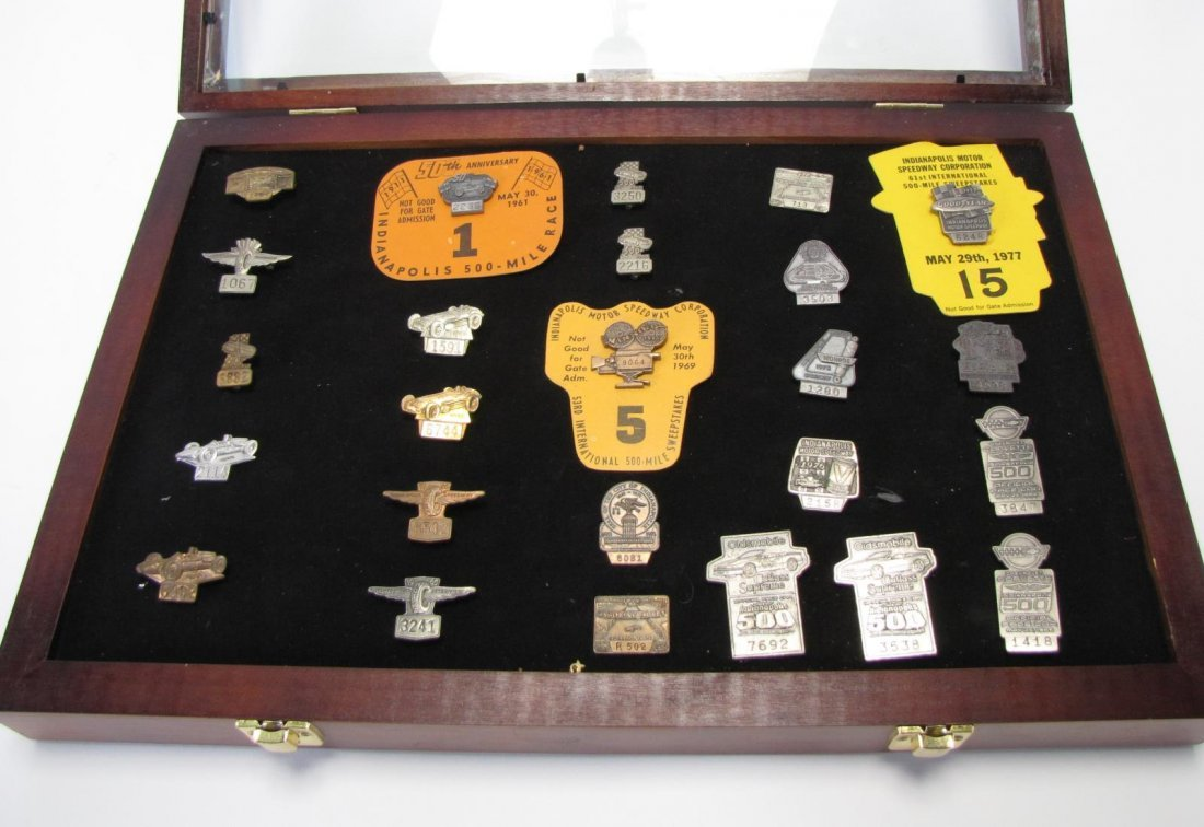 Collection of Vintage Indianapolis 500 Pit Badges - 2