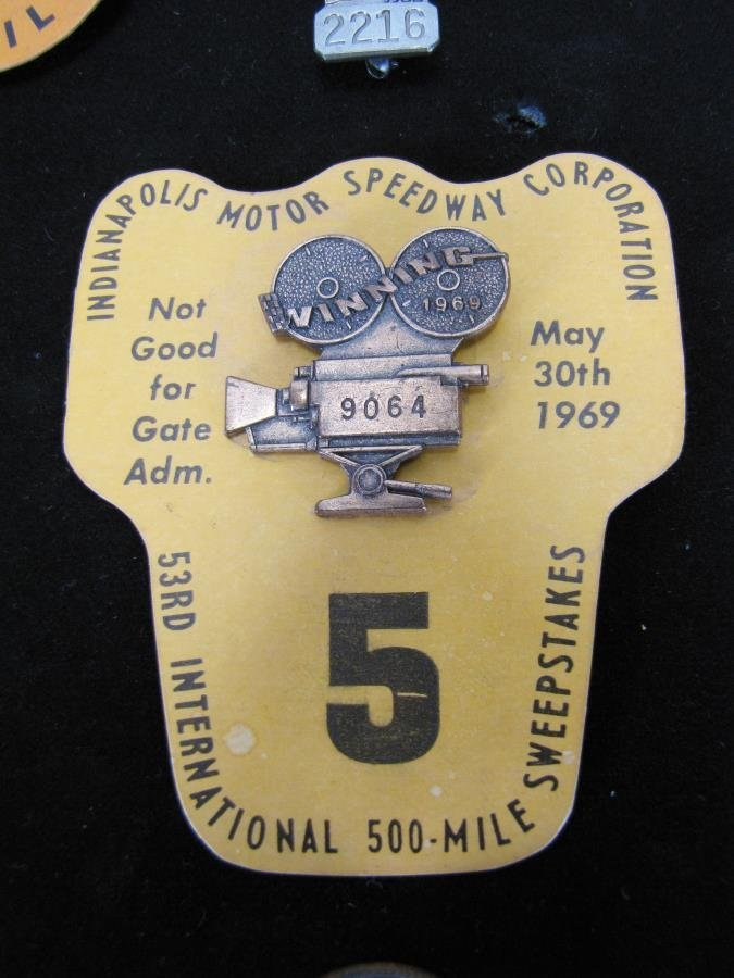 Collection of Vintage Indianapolis 500 Pit Badges - 4