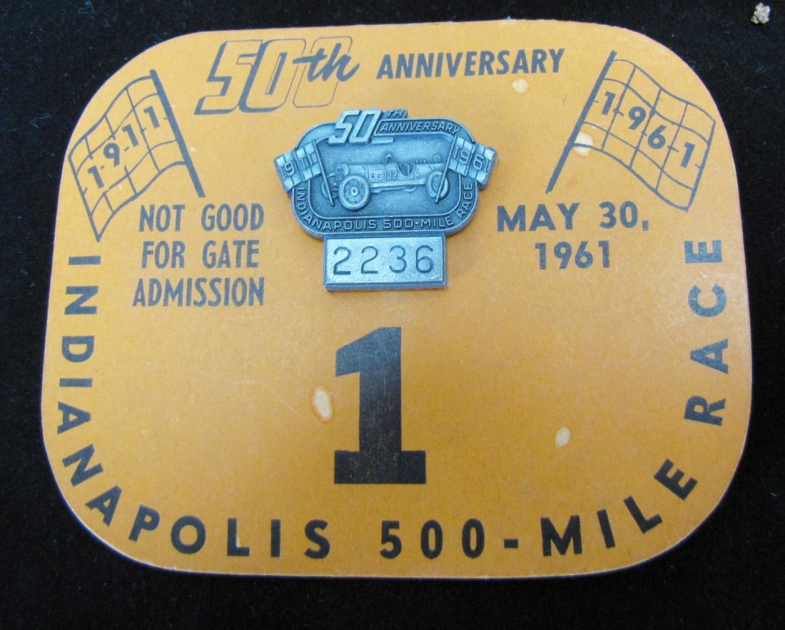 Collection of Vintage Indianapolis 500 Pit Badges - 5