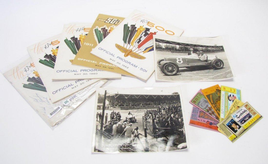 Vintage Indianapolis 500 Ephemera