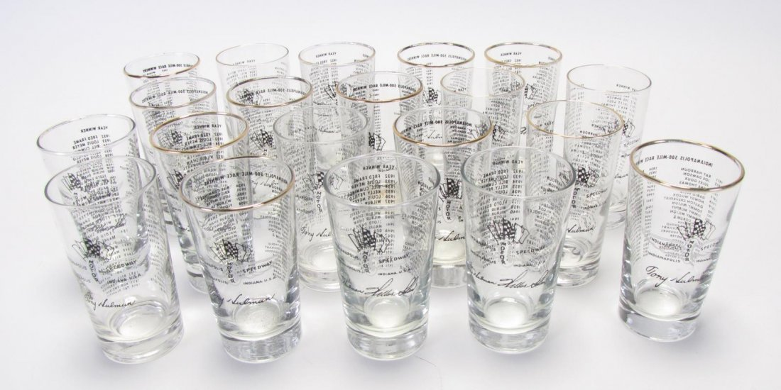 Set of Tony Hulman Indianapolis 500 Glasses