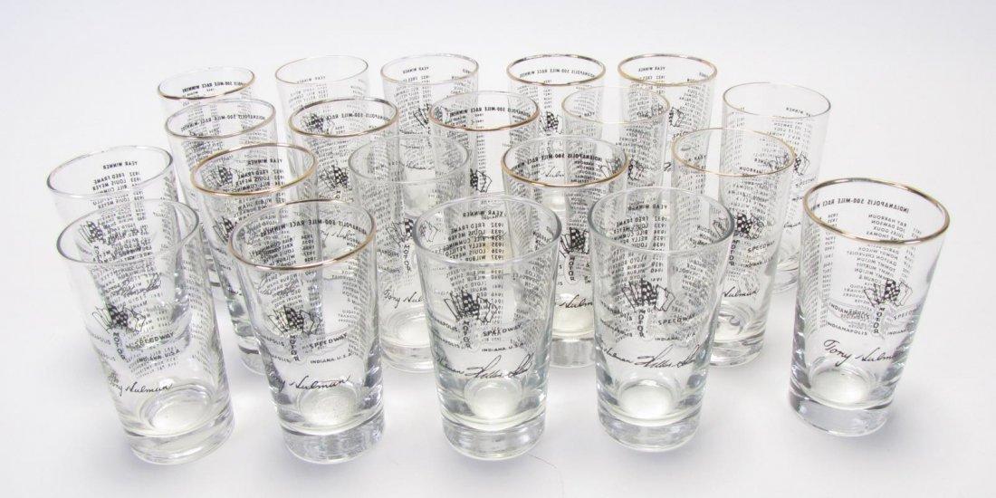 Set of Tony Hulman Indianapolis 500 Glasses