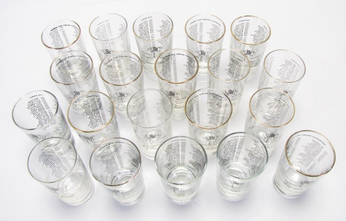 Set of Tony Hulman Indianapolis 500 Glasses - 2