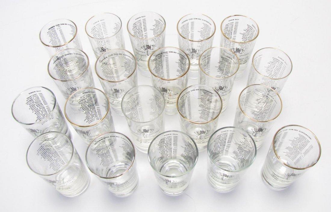 Set of Tony Hulman Indianapolis 500 Glasses - 2