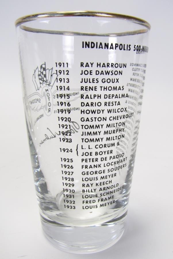 Set of Tony Hulman Indianapolis 500 Glasses - 5