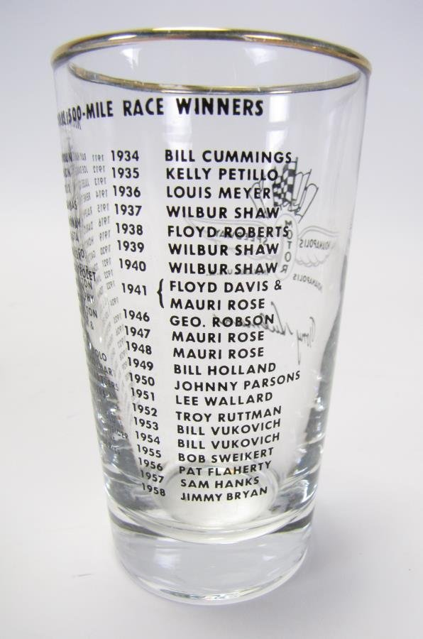 Set of Tony Hulman Indianapolis 500 Glasses - 6