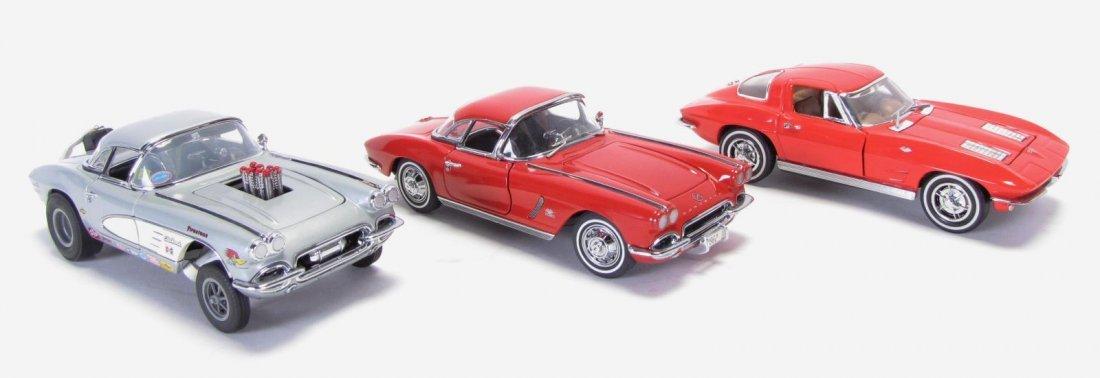 Three Danbury & Franklin Mint Die Cast Cars