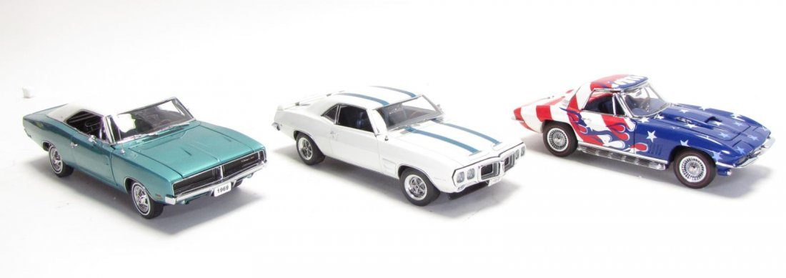 Three Danbury and Franklin Mint Die Cast Cars