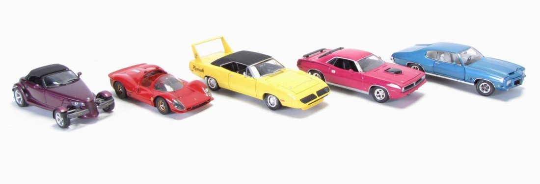 Five Die Cast Cars