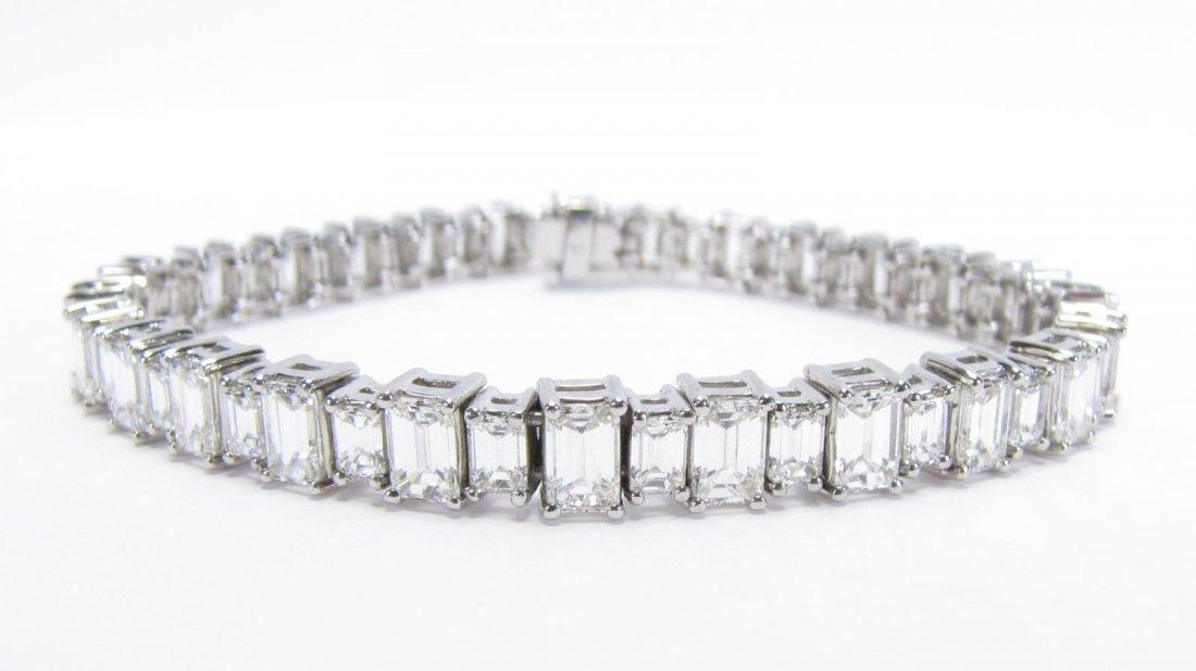 Platinum Bracelet with over 14Ct Fine Diamonds