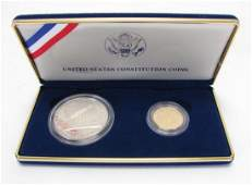 1987 Constitution Gold and Silver Coin Set