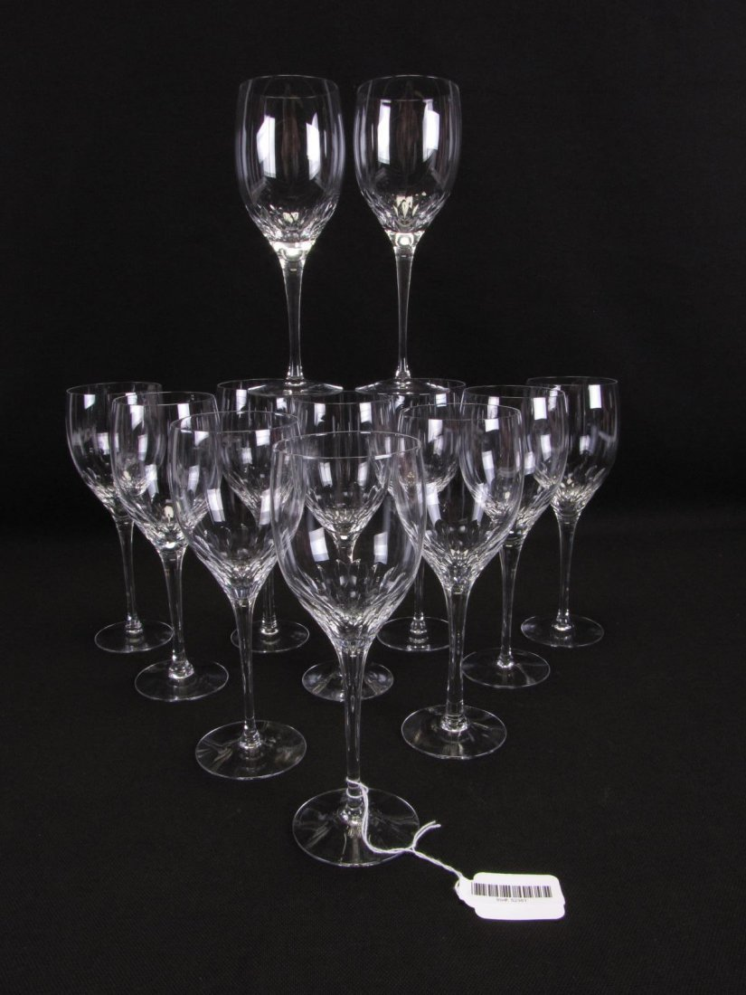 Set of 12 Orrefors 'Prelude' Claret Wine Glasses