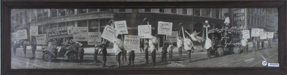 Framed 1910 Indianapolis Yard-Long Photo