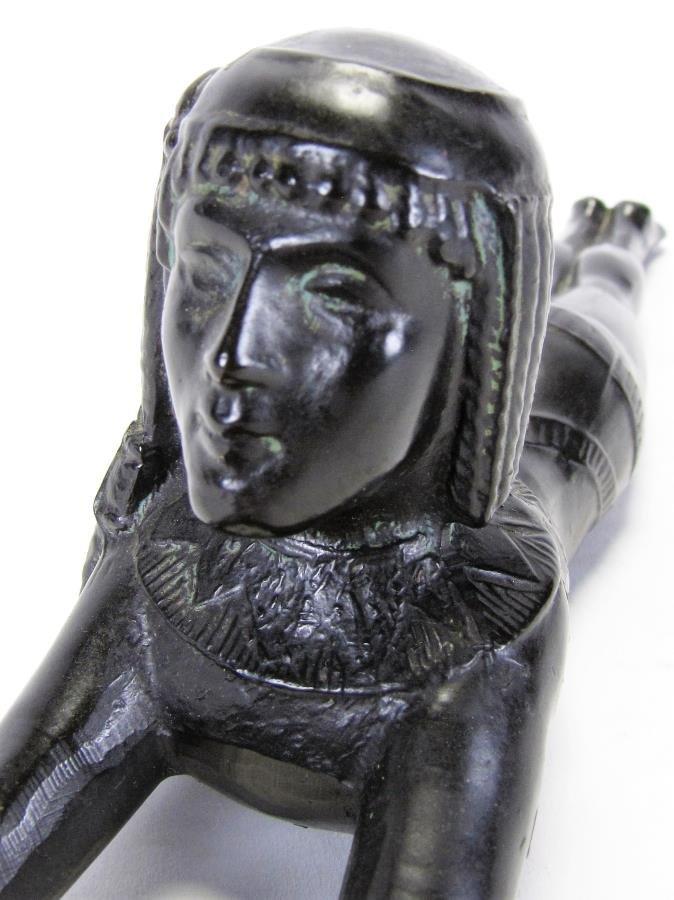 Bronze Sculpture of Egyptian Figure - 4