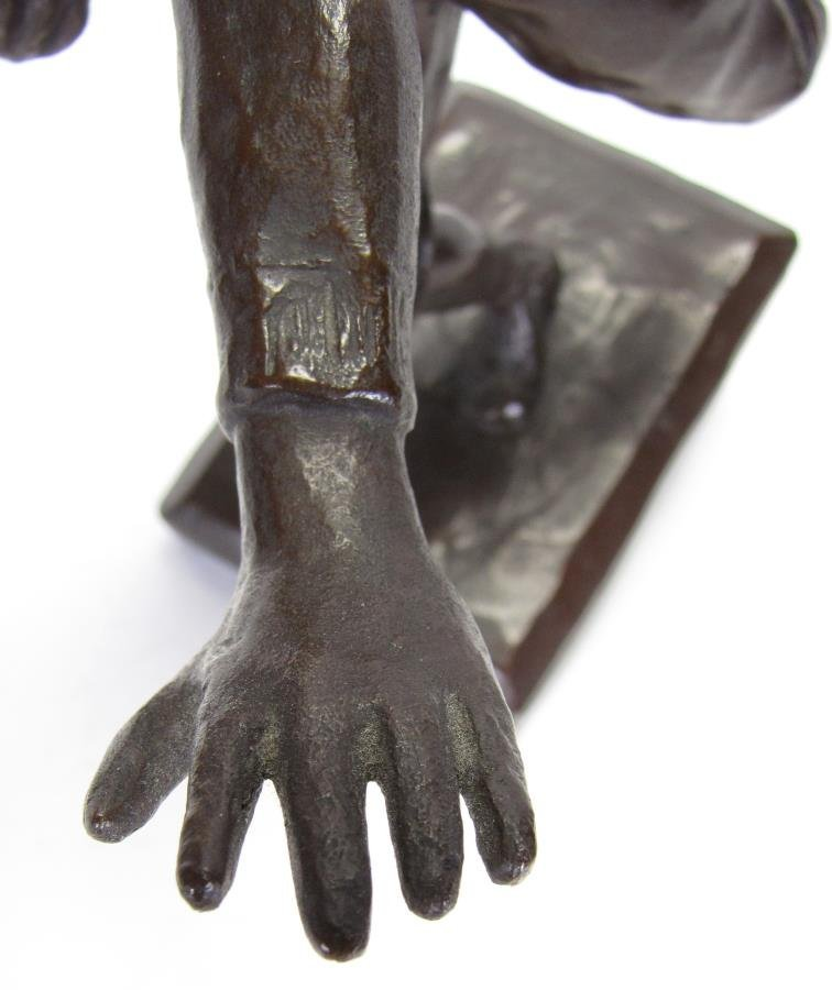 Antique M.W. Pratt Bronze Football Sculpture - 6