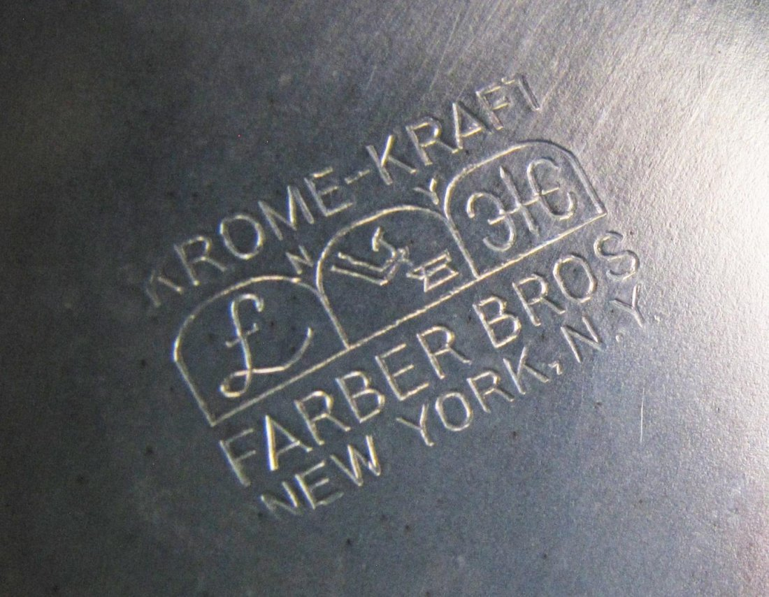 Group of Farber Brothers Krome Kraft Barware - 5
