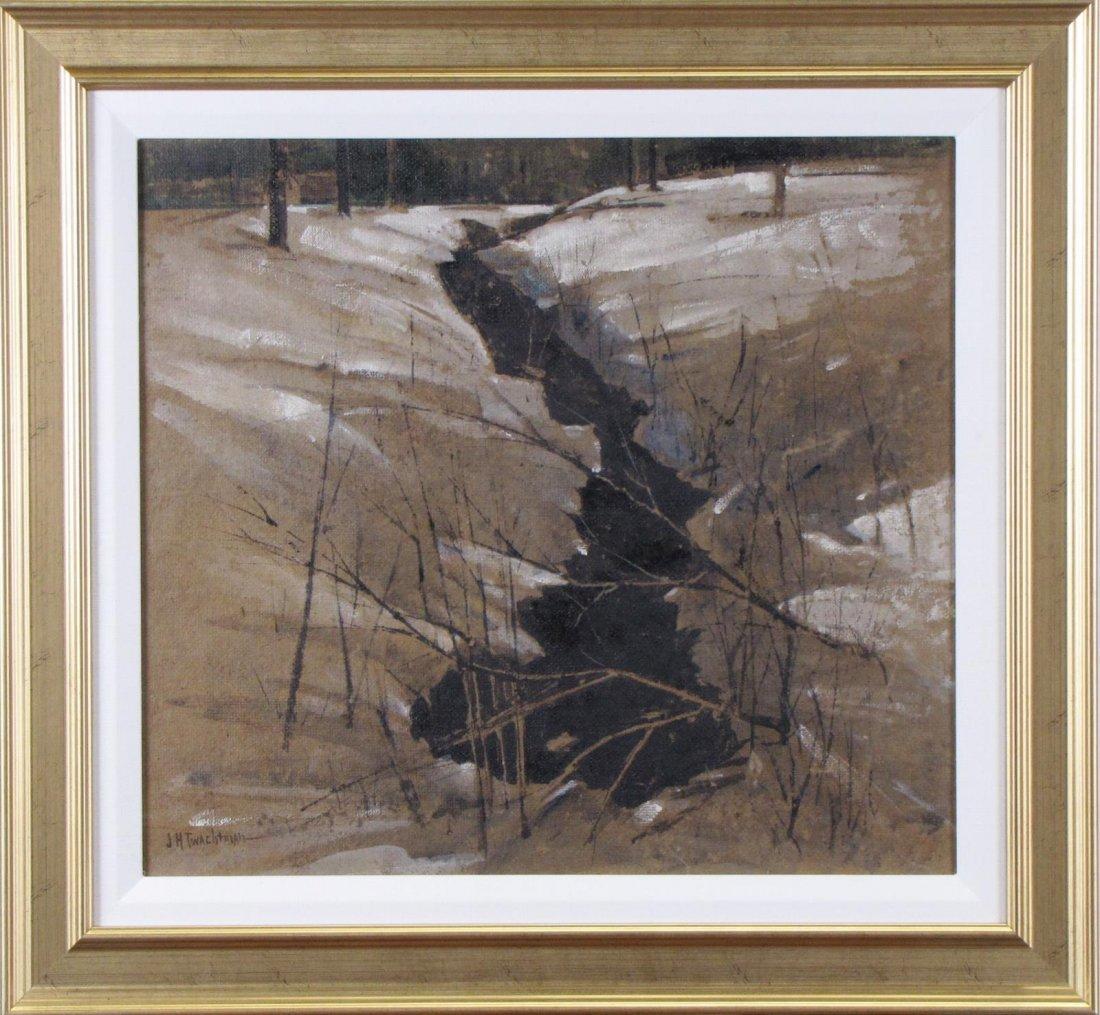 "John H Twachtman 16.5x18 O/B ""Horseneck Creek"""