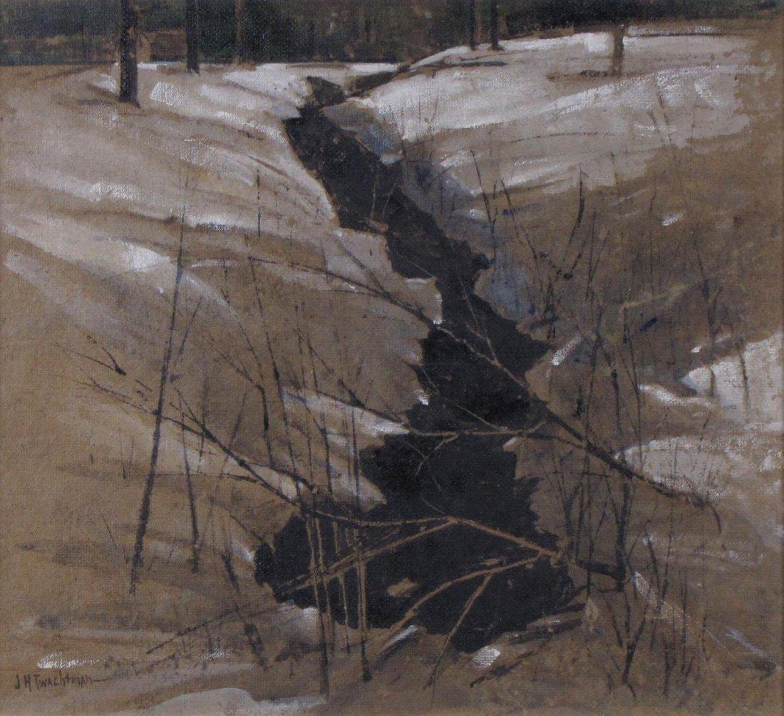 "John H Twachtman 16.5x18 O/B ""Horseneck Creek"" - 2"