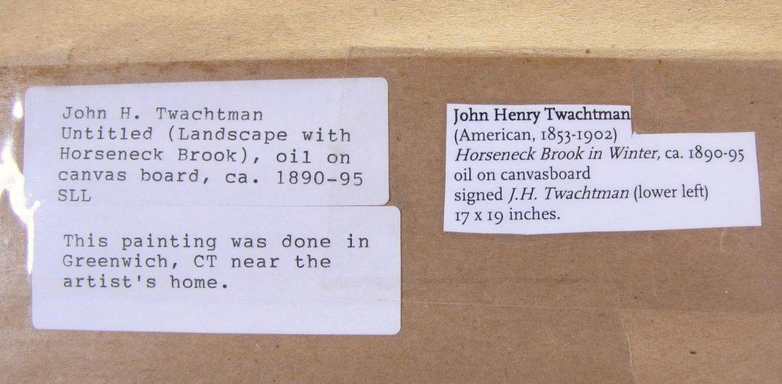 "John H Twachtman 16.5x18 O/B ""Horseneck Creek"" - 4"