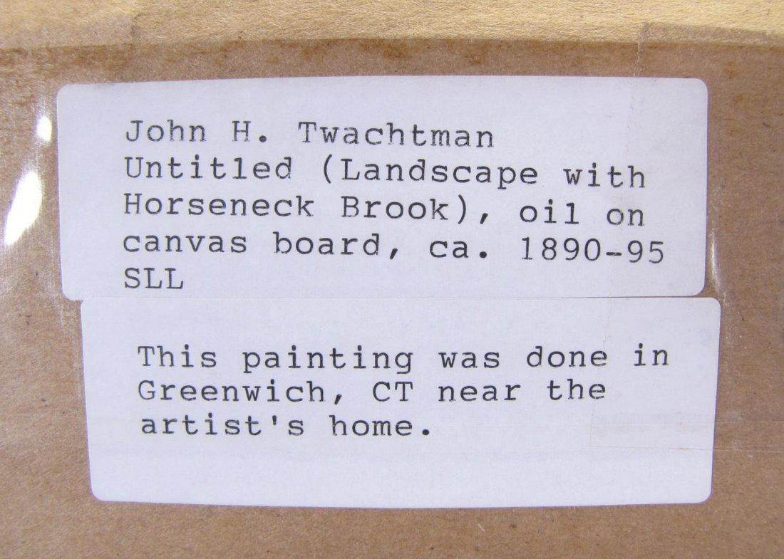 "John H Twachtman 16.5x18 O/B ""Horseneck Creek"" - 5"