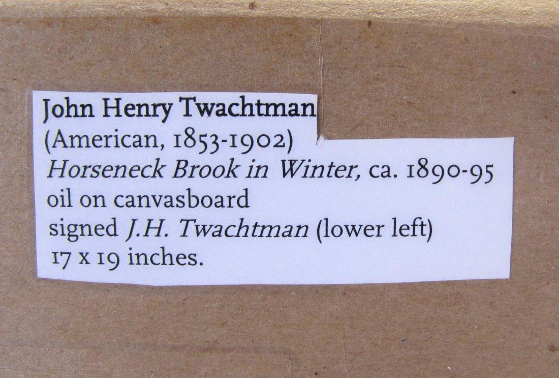 "John H Twachtman 16.5x18 O/B ""Horseneck Creek"" - 6"