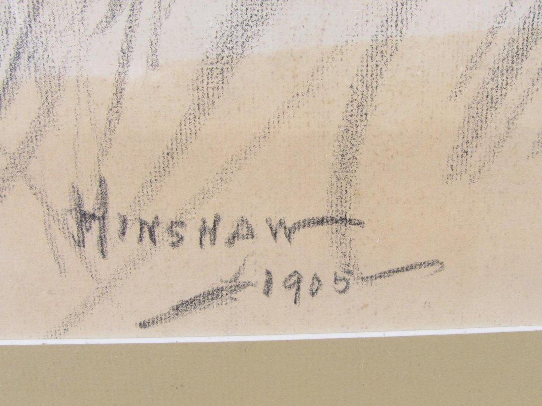 Glen C Henshaw 21x13 Charcoal Portrait of Woman - 3