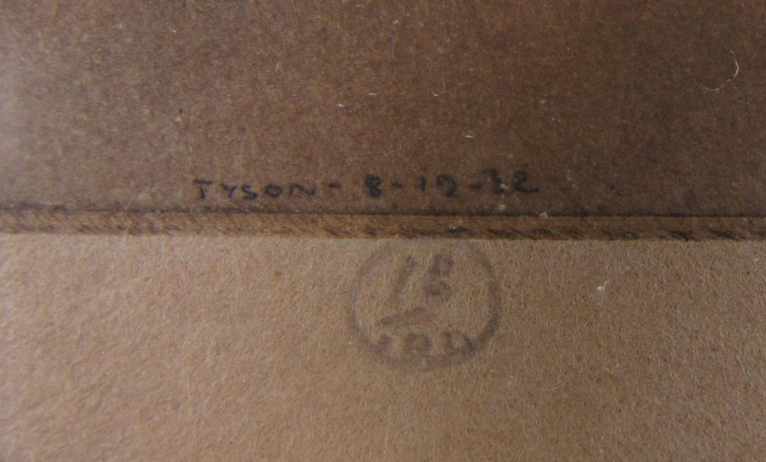 "Dorsey Potter Tyson, Original Etching, ""Dawn"" - 3"