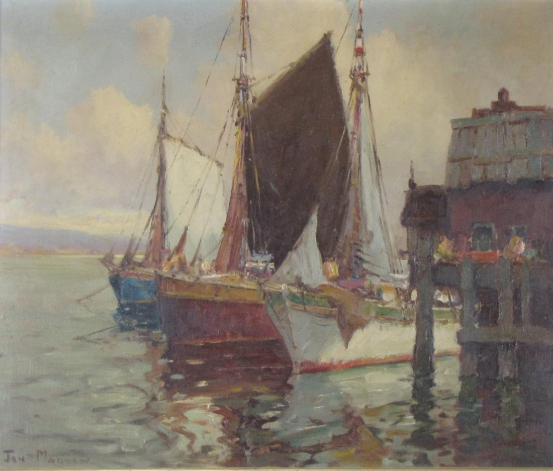 Jan Madden 25 x 30 O/C Fishing Schooners