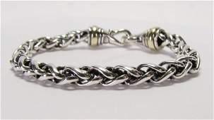 David Yurman Sterling/18K Bracelet