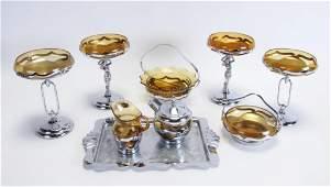 Group of Farber Brothers Krome Kraft Barware