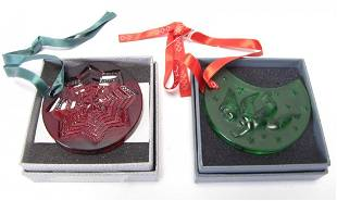 Two Lalique Crystal Ornaments
