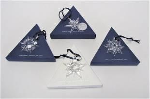 Four Swarovski Crystal Star Ornaments