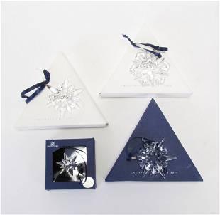 Four Swarovski Crystal Ornaments